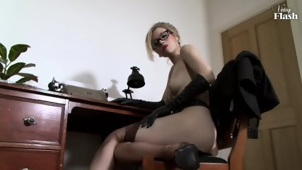 Elegant Woman Masturbates On Desk - scene 11