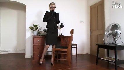 Elegant Woman Masturbates On Desk - scene 3