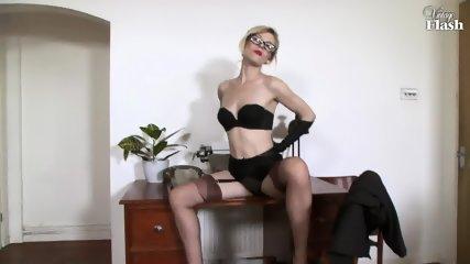 Elegant Woman Masturbates On Desk - scene 6