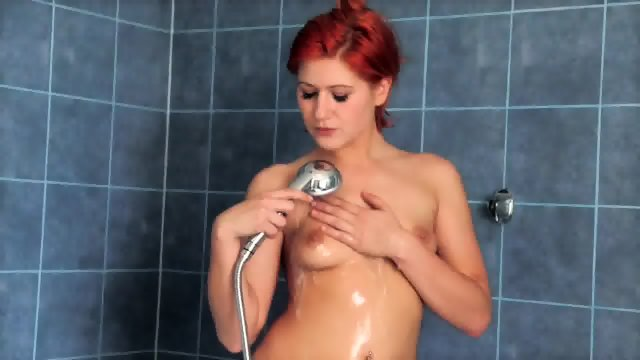 Redhead In The Shower