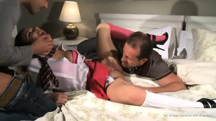 Naughty Girl Henessy Serves Two Guys