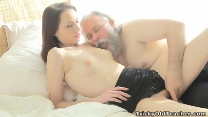 Skinny Teen Fucked By Kinky Old Guy - scene 4