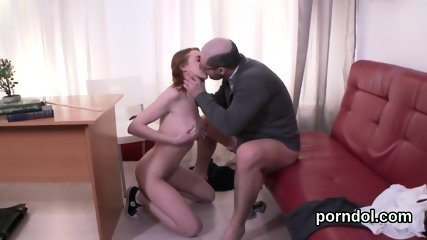 Cute bookworm is seduced and fucked by older lecturer