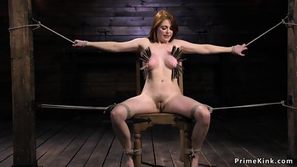 Huge tits redhead gets zippered