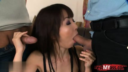 Asian pornstar dp with facial