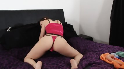 Charming Girl Takes Off Lingerie And Plays With Pussy - scene 1