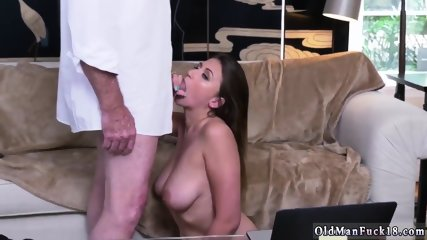 Old guy blowjob and young Ivy impresses with her hefty baps and ass