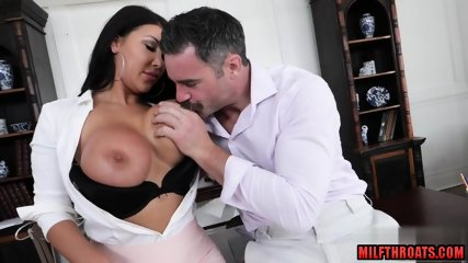 Asian milf office fuck and facial