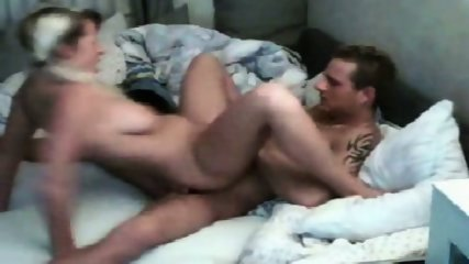 Horny couple on the bed - scene 7