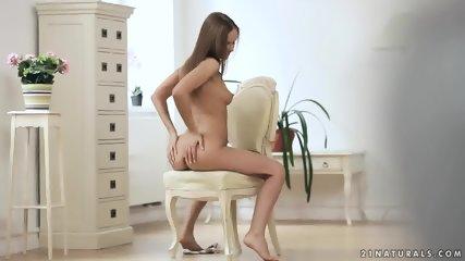 Girl Rubs Her Cute Pussy