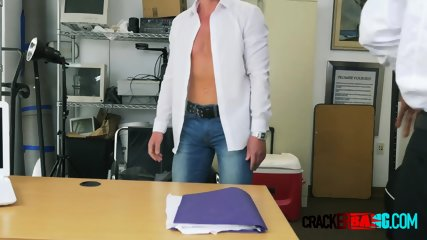 Foreign dude comes to steamy interview where he gets his ass demolished