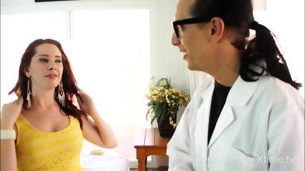 Horny Redhead Fucks Her Doc - scene 1