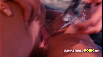Retro blonde gets drilled by hairy vintage dude deep and hard