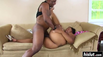 Black dick destroys a tight cunt - scene 11