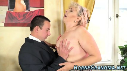 Cock stroking grandmother