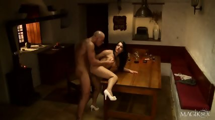 Hardcore Anal Sex On The Table - scene 7