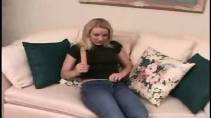 Blonde Gets NAUGHTY while parents are away!