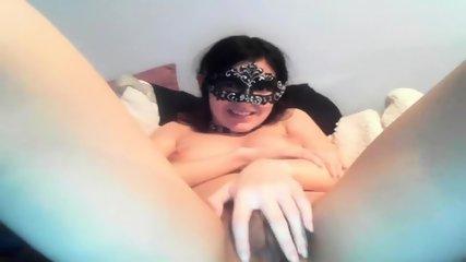 Masked Girl Masturbating - scene 2