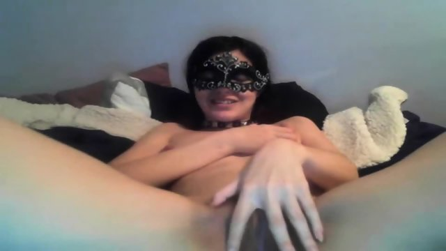 Masked Girl Masturbating