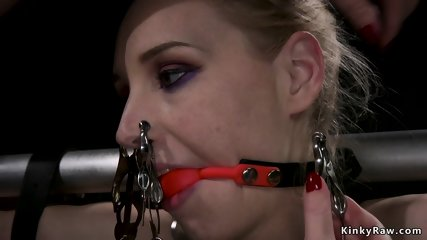 Lesbian slave dominated and whipped