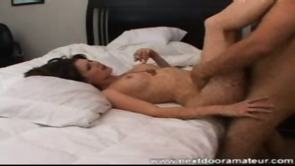 Sexy brunette banged and bed - scene 5