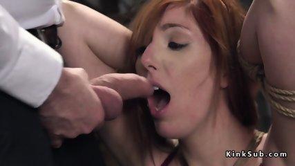Huge tits tied up redhead balls deep fucked