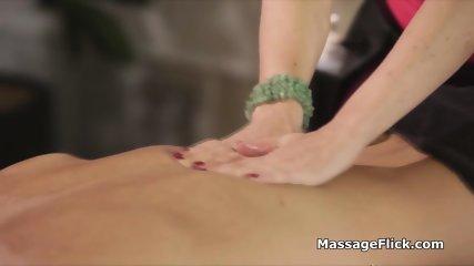 Big tit masseuse rides clients huge dick