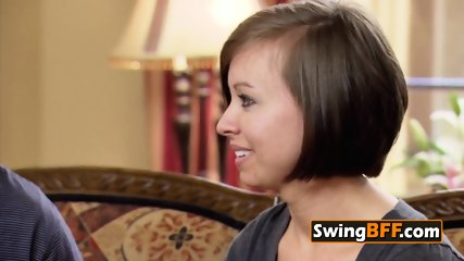 Open minded swinger wife fulfills her fantasies in the red room