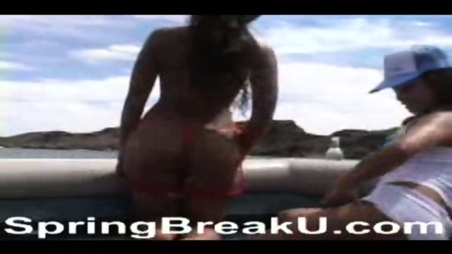 Oil Up That Hot Asian Ass At Lake Havasu Spring Break