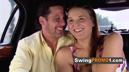 Horny couple makes a steamy arrival at the swing house