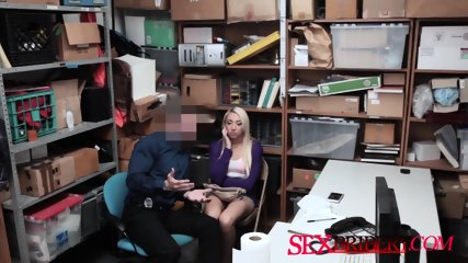 Piston lover blonde breeding at the office with her big butt