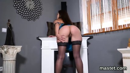 Feisty czech cutie gapes her narrow cunt to the special