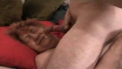 OMG!That granny gets a facial!