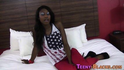 Black teenager in heels