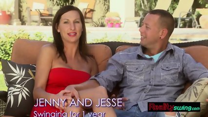 Swinger couple is excited and ready to bang hard at the swingers party