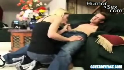Blonde chick deepthroats - scene 1