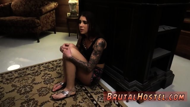 Extreme mouth fuck and slave threesome Excited youthfull tourists Felicity Feline and