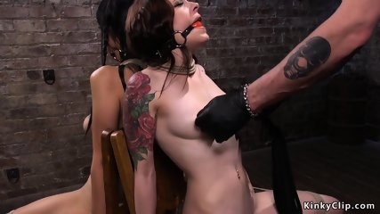 Two bound lesbians made licking