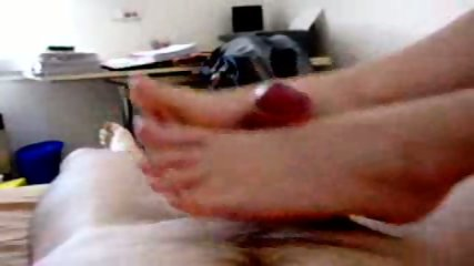 Great amateur footjob - scene 3
