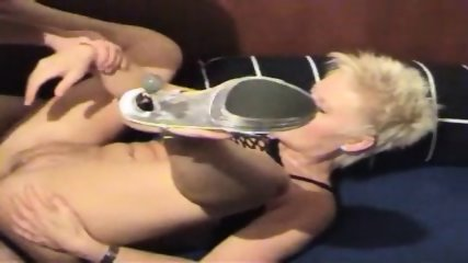 German Amateur Slut - Sandwich Sex - scene 3