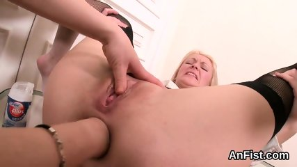 Wicked lesbian stunners are spreading and fist fucking anals