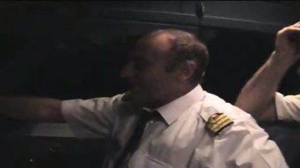French slut shows her assets to the plane captain - scene 6