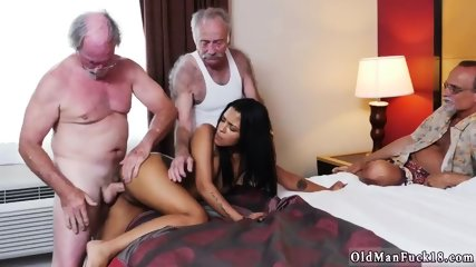 Two old guys fuck and big tits dick daddy Staycation with a Latin Hottie