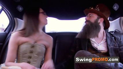 Horny swingers wear costumes to spice up the swingers mansion