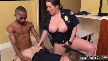 Milf orders pizza xxx Black Male squatting in home gets our milf officers squatting on