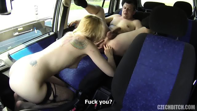 European Whore Banged In The Car