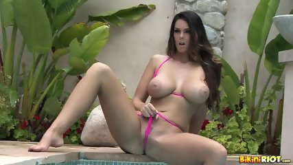 Hottie With Bikini At The Poolside - scene 7
