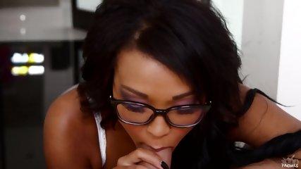 Cute Babe With Glasses Sucks Dick - scene 6