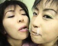 Bukkake Japanese Cum Swap - scene 11