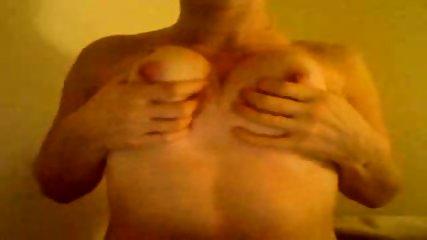 Webcam slut plays with boobies - scene 9